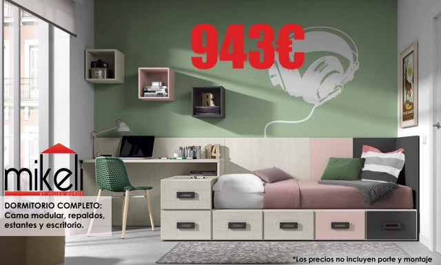 Juveniles mikeli tu tienda de muebles a precios for Muebles juveniles precios