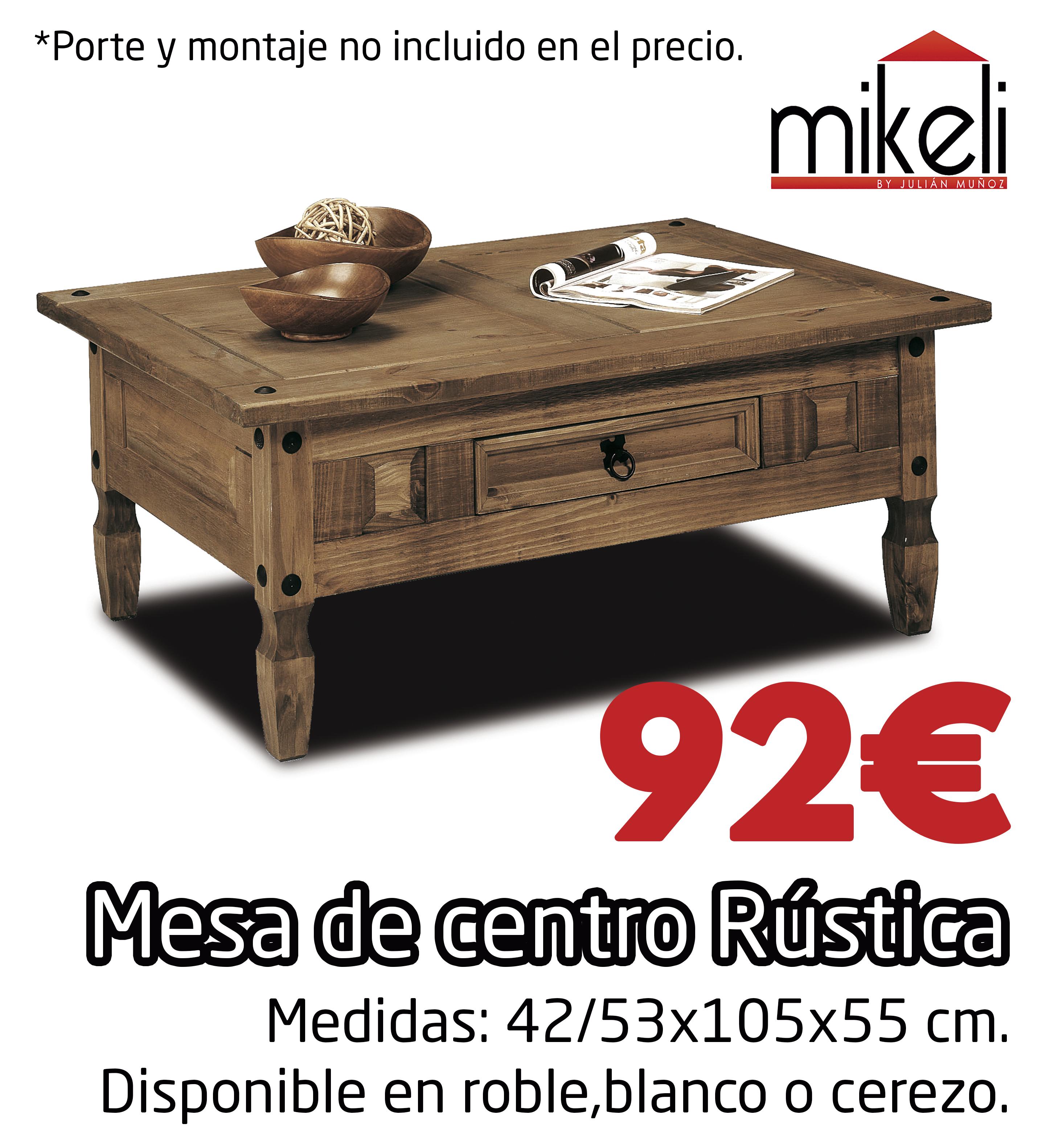 Mesa Centro Rustica Gilabert Mikeli Tu Tienda De Muebles A  # Muebles Gilabert