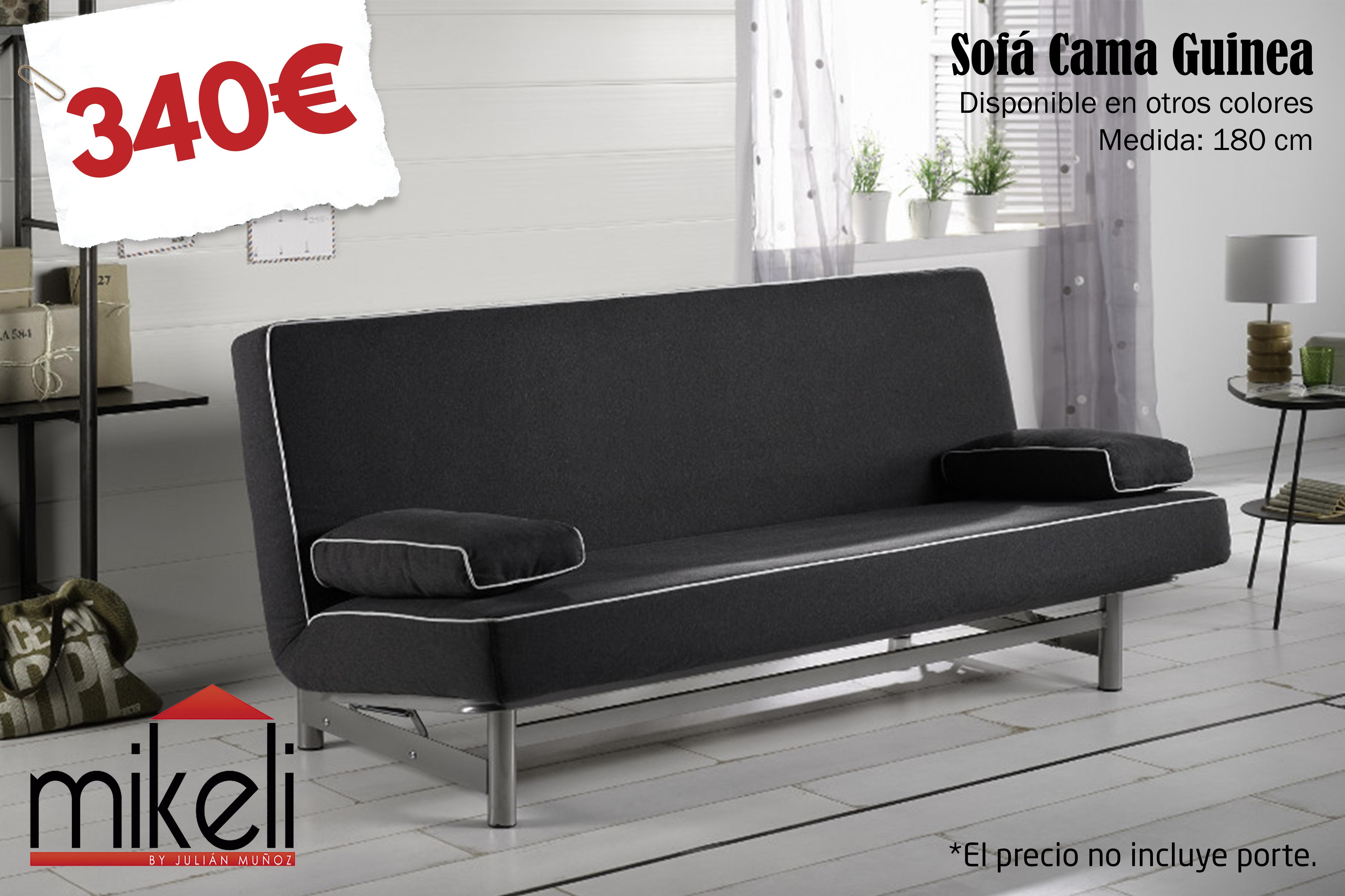 Sofa Cama Guinea Mikeli Tu Tienda De Muebles A Precios  # Muebles A Medida Ceuta