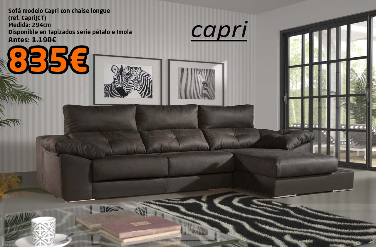 Sof Capri Oferta Mikeli Tu Tienda De Muebles A Precios  # Muebles A Medida Ceuta