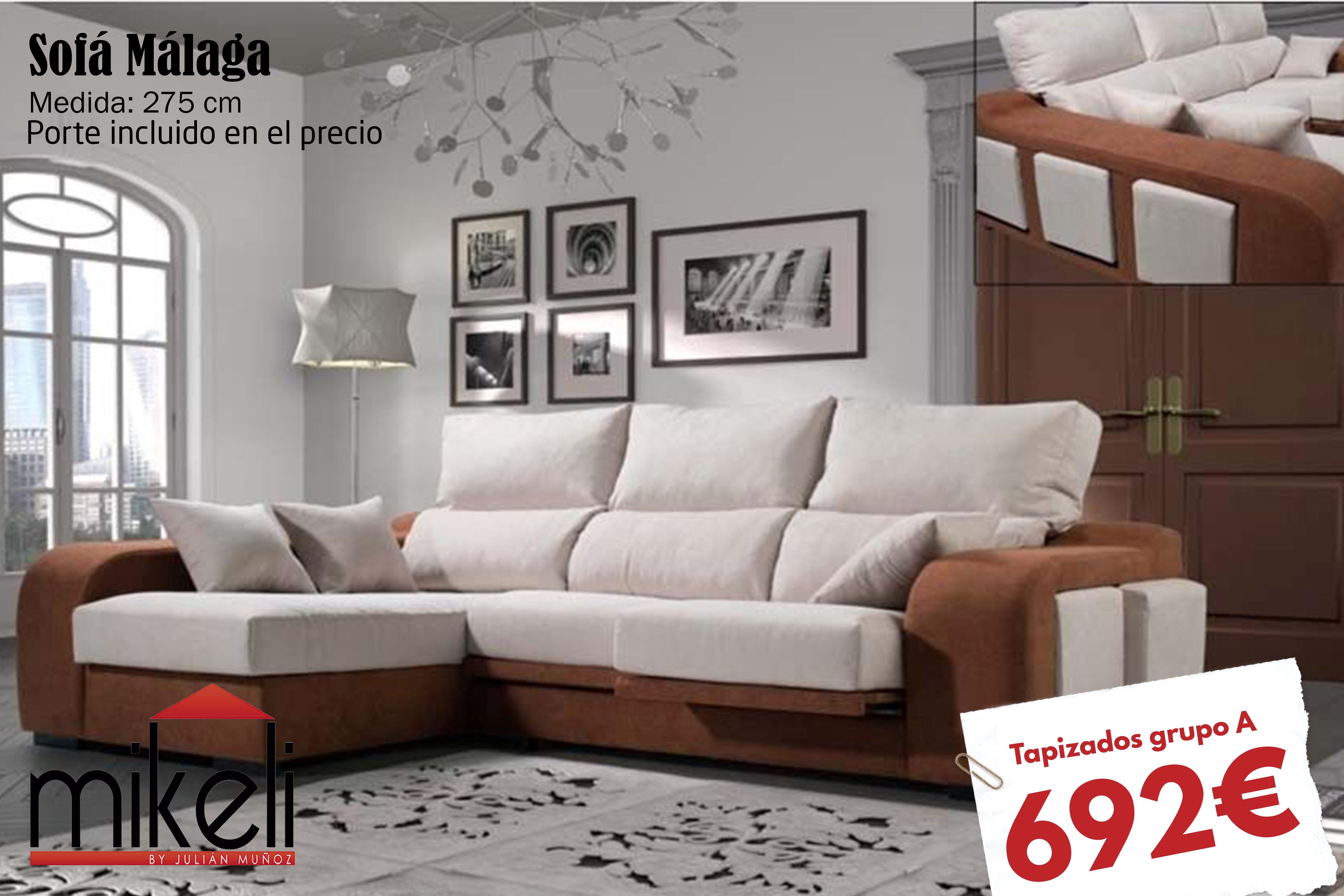Sofa Malaga Rudeca Mikeli Tu Tienda De Muebles A Precios  # Muebles A Medida Ceuta