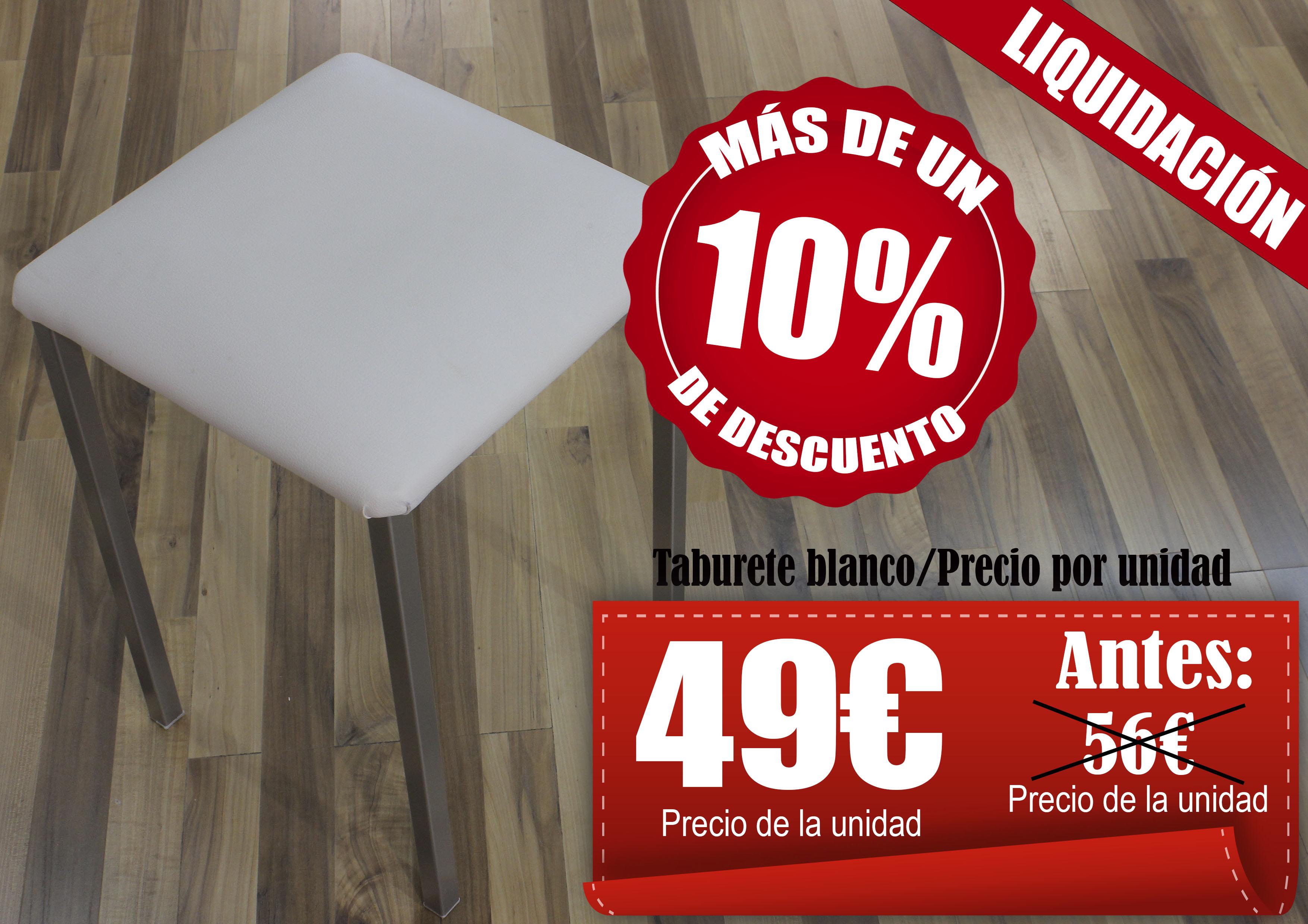 Taburetes Blanco Mikeli Tu Tienda De Muebles A Precios  # Tiendas Muebles Ceuta