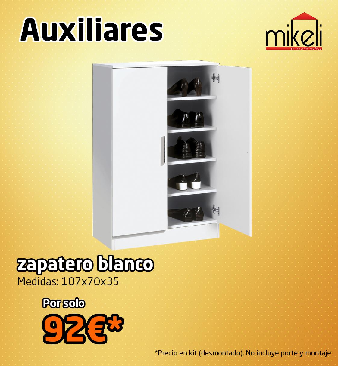 Zapatero mikeli mikeli tu tienda de muebles a precios - Muebles zapateros precios ...